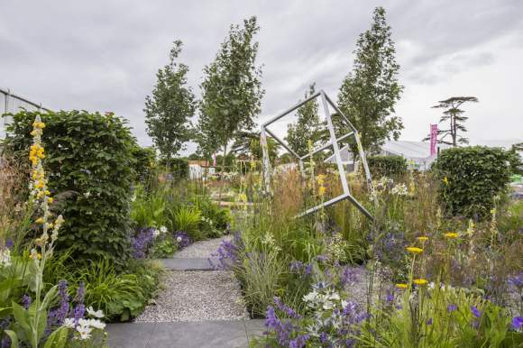 Unique: The Rare Chromosome Disorder Garden. Designed by: Catherine Chenery and Barbara Harfleet. Sponsored by: Unique: The Rare Chromosome Disorder Support Group. RHS Hampton Court Palace Flower Show 2015.