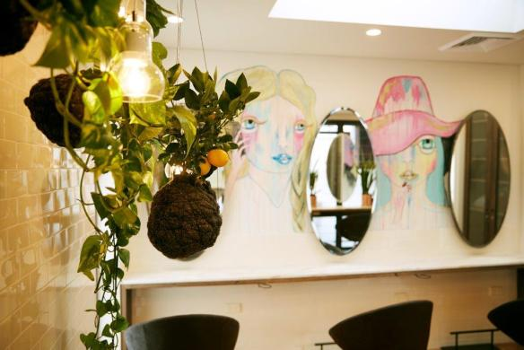 Valonz Haircutters Sydney. Planting design Phillip Withers