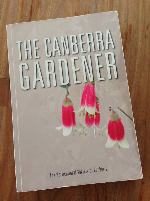 My very well thumbed copy of The Canberra Gardener. Photo: Janna Schreier
