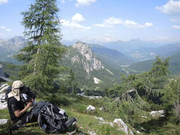 Lunch stop during our Dolomites walking tour