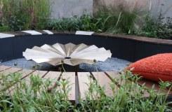 Fire pit detail in The Tea Garden Design Ross Uebergang Japan World Flower and Garden Show 2015