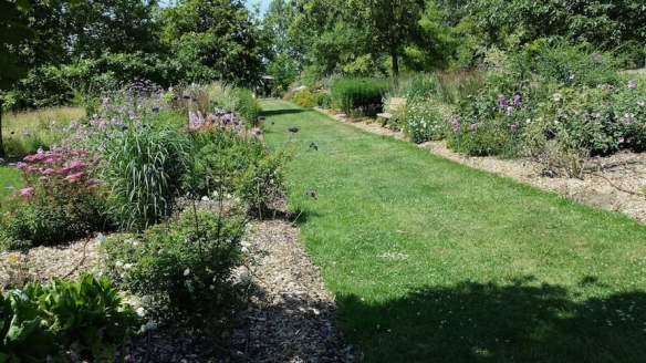 Herbaceous border Jardin du Bois du Puits