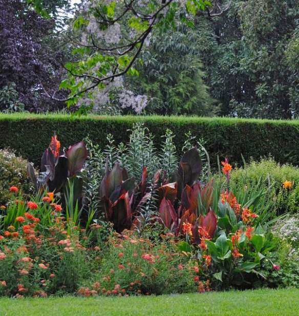 The sunset coloured border at Devon House in 'Celebrate the Seasons' p171. Photo Kim Woods Rabbidge