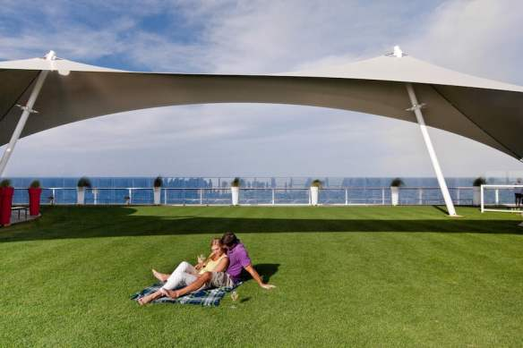 Celebrity Solstice's very popular lawn area