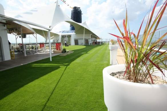 Celebrity Solstice's cool green REAL lawn