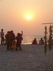 String of chillis – the only thing that's 'chilly' on a sweltering Alleppey Beach.