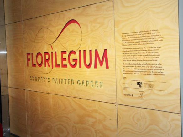 Great looking signs and descriptive text complemented the contemporary feel of the exhibition. Florilegium - Sydney's Painted Garden