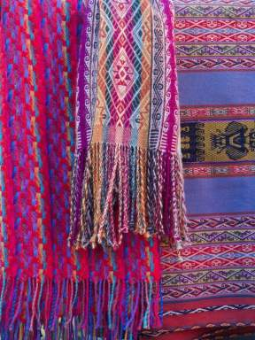 Scarves and blankets made with natural dyes