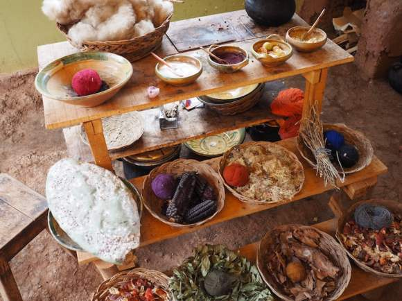 Natural dyes in Chinchero