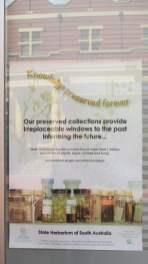 Sign in Herbarium window at Adelaide Botanic Garden