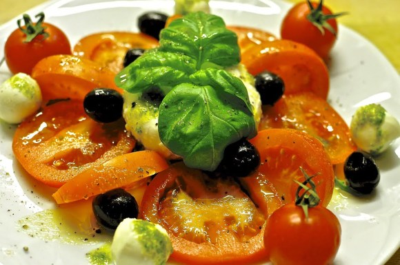 Caprese with basil