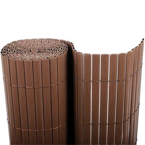 Cañizo-PVC-doble-cara-chocolate-separación-ocultación-decoración-hogar