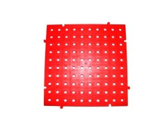 placa pvc de color rojo 50x50x2.5 centimetros