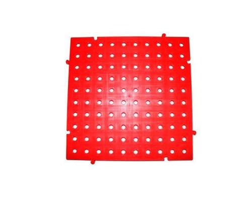 placa pvc de color rojo 50x50x2.5 centimetros