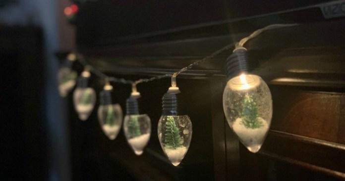 Mini Snow Globe Lights