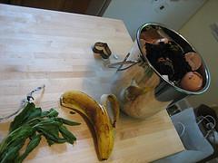 eggshells and banana by oshendoschen