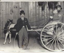 Aaron Frank dressed as Charlie Chaplin, circa 1920s