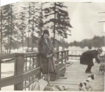 Ruth Frank with dogs
