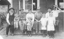 Christian Balmer, far left, Christ Gertsch, far rt, Rosalie Balmer taller girl marries Pete Gertsch,center white shirt, parents of Shirley Gertsch Bartels