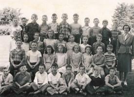 Early 1940's Garden Home School Students. Teacher, Miss Waltman.