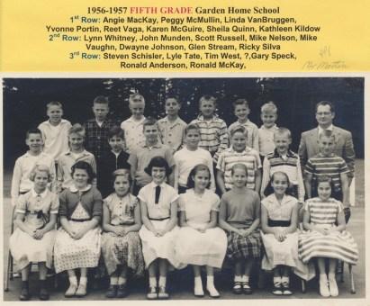 1956 Garden Home School, 5th grade