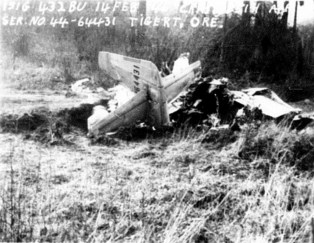 1946 Fighter plane crash in Tigard, wreckage