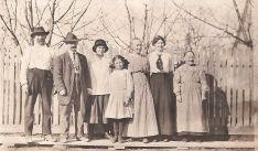 Andreas Von Bergen, cousin Caspar Baumgarten, Ida, Frieda, Grandma Magdelana, Elsie and Great Grandmother Von Bergen (vintage photo)