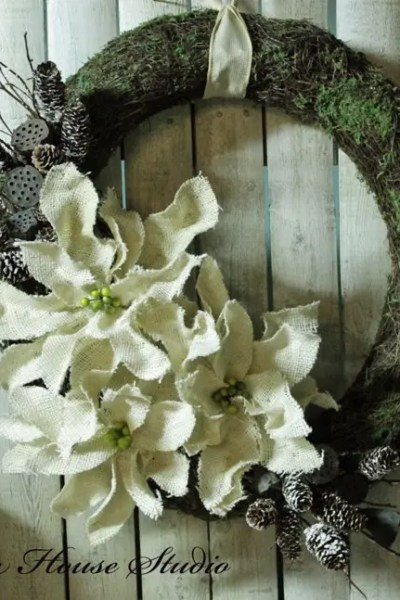 What to do with a burlap poinsettia?