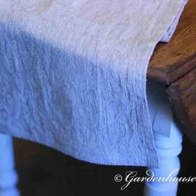 Rustic Linen Table Runner