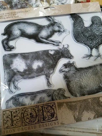 iod farm animal stamp