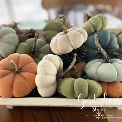 DIY Fabric Pumpkins with MMS Milk Paint