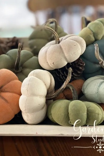 diy fabric pumpkins