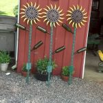 60 Unique DIY Garden Art From Junk Design Ideas (48)