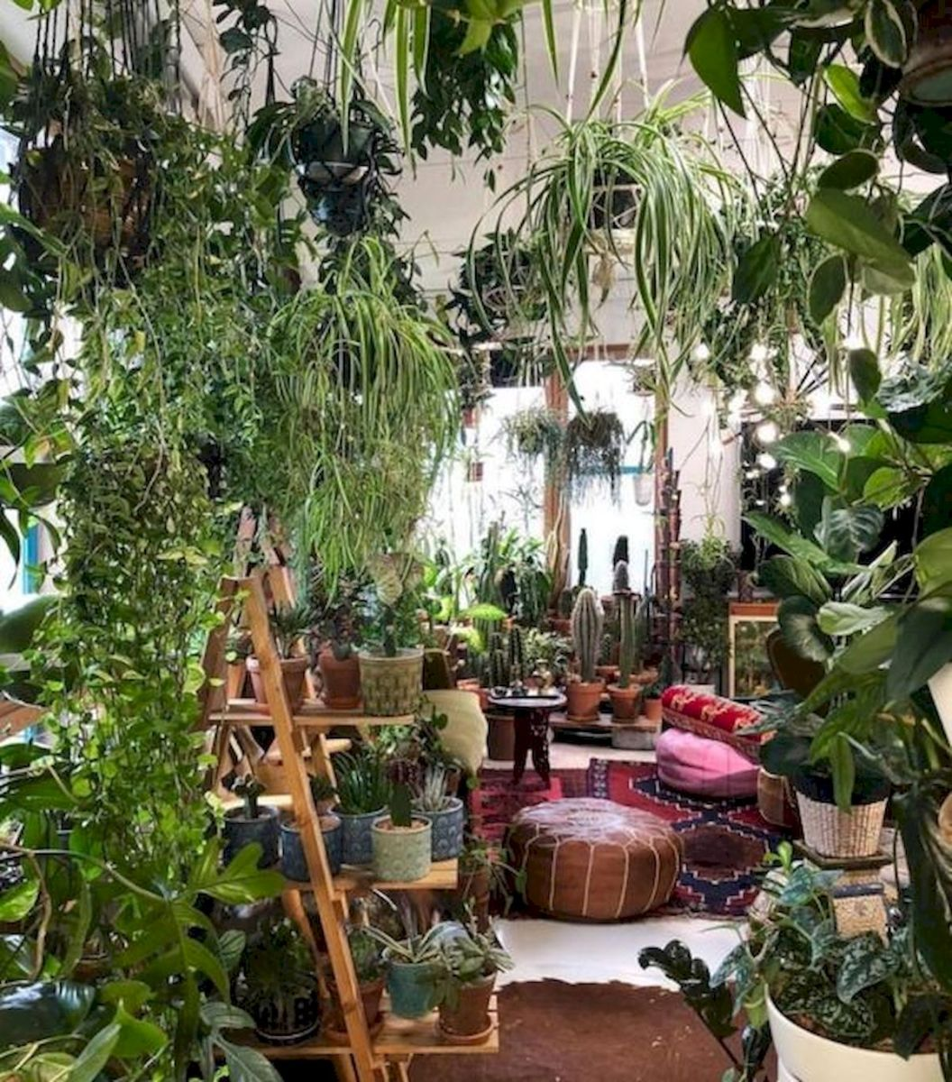 40 Awesome Indoor Garden Design Ideas That Look Beautiful (40)
