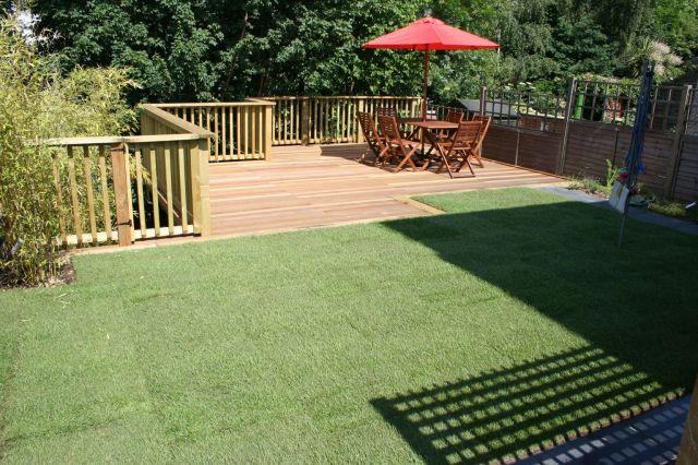 Beautiful decking ideas for sloping garden