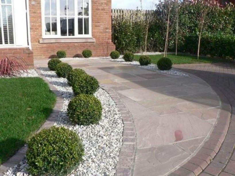 Adorable Front Garden Ideas With Gravel