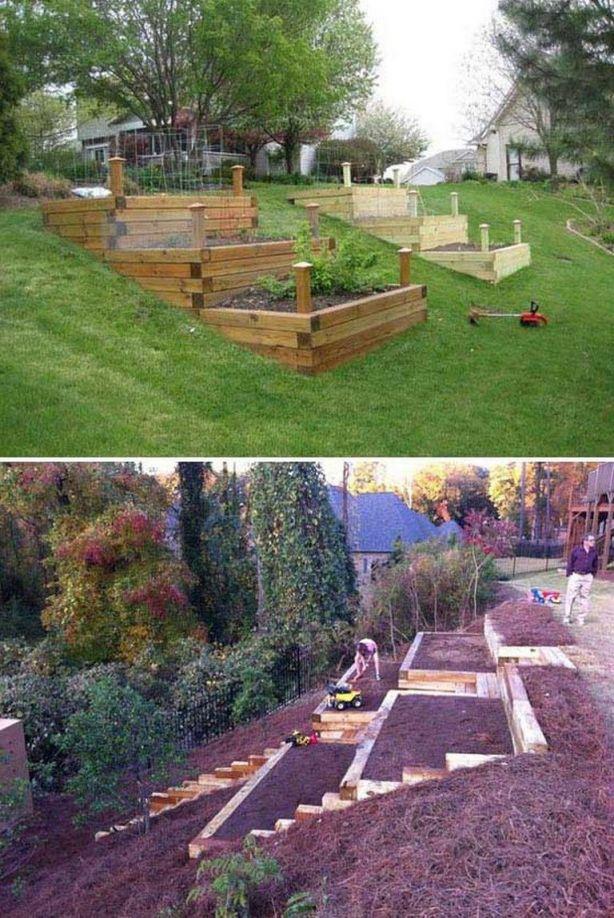 Amazing terraced backyard landscaping ideas
