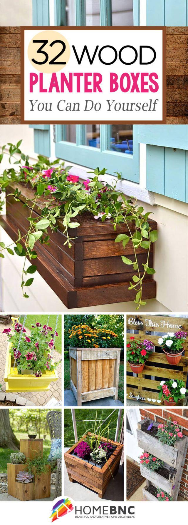 Best wood planter box ideas