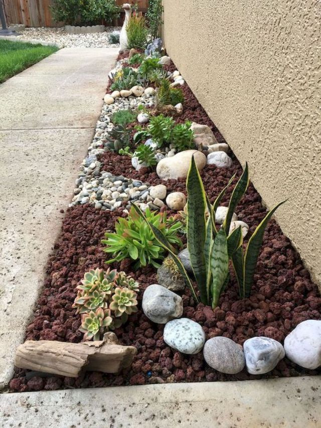 Awesome rock garden ideas for front yard