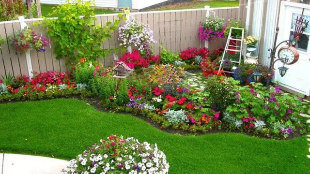 Awesome corner garden bed ideas
