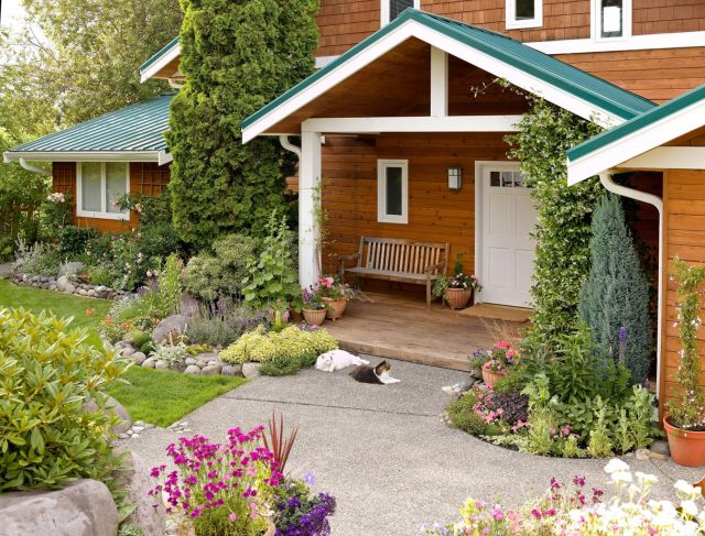 Cool flower bed designs for front of house
