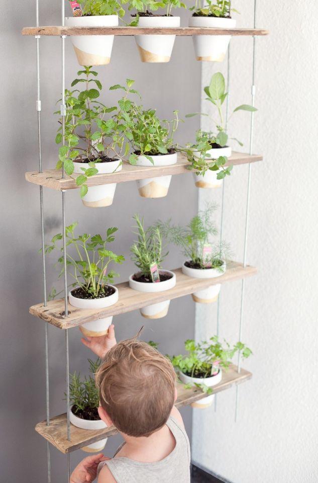 Gorgeous hanging herb garden ideas