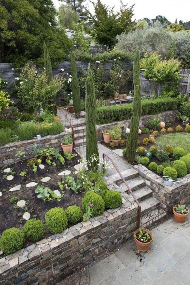 Wonderful terraced backyard landscaping ideas