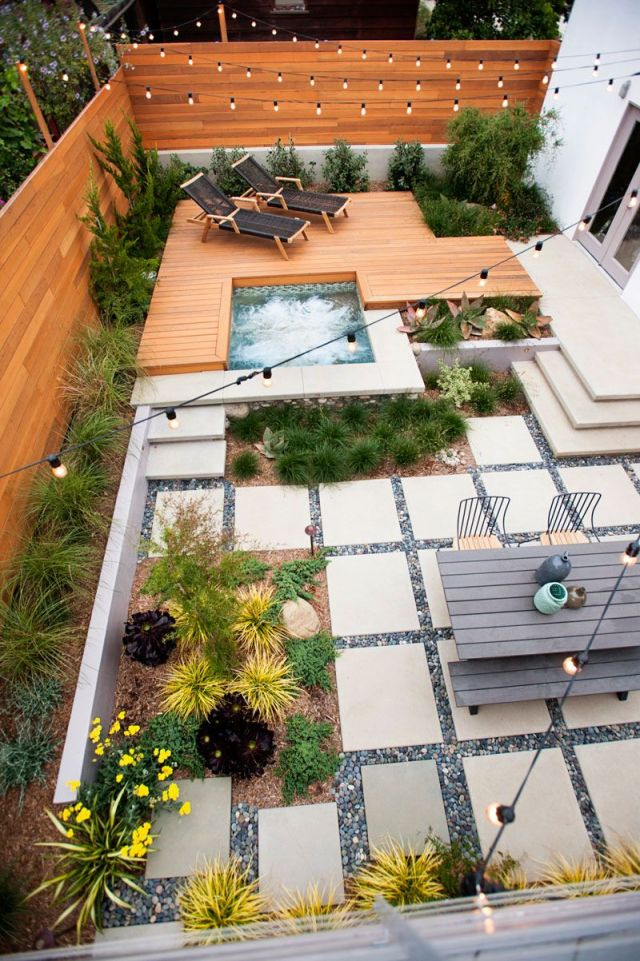 Beautiful  narrow backyard ideas