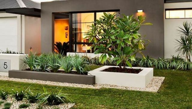Fantastic modern landscaping ideas for front of house