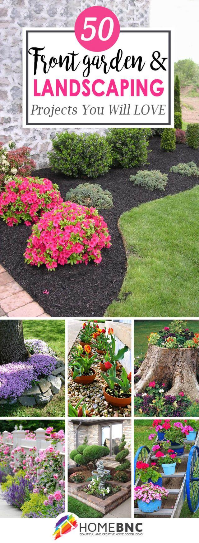Adorable front garden border ideas
