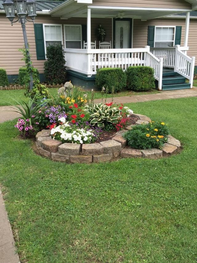 Nice low maintenance front garden ideas