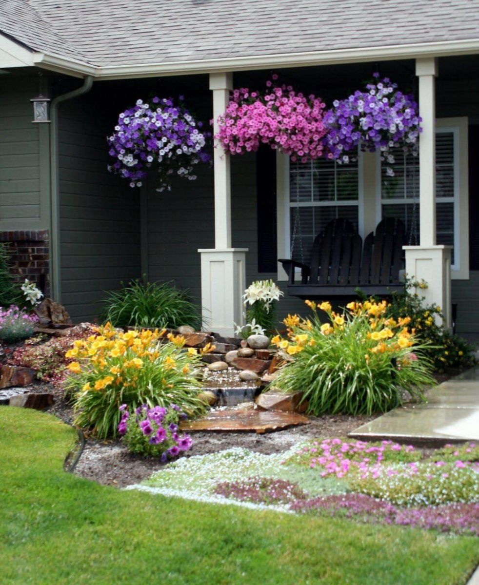 Beautiful  small flower bed ideas for front of house