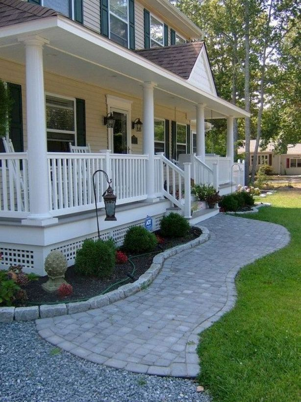 Gorgeous Landscaping In Front Of Porch