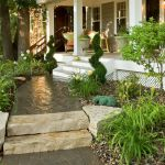Nice Landscaping In Front Of Porch